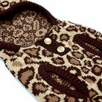 View Image 5 of Leopard Hooded Dog Sweater by Dogo