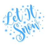 View Image 2 of Let It Snow Dog Shirt - White