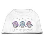 View Image 1 of Let it Snow Penguins Rhinestone Dog Shirt - White