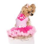 View Image 2 of Light Pink And Hot Pink Heart Pet Dress by Pawpatu