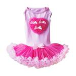 View Image 1 of Light Pink And Hot Pink Heart Pet Dress by Pawpatu
