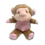 View Image 1 of Monkey Safari Baby Pipsqueak Dog Toy By Oscar Newman - Pink