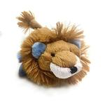 View Image 1 of Lion Safari Baby Pipsqueak Dog Toy By Oscar Newman - Blue