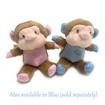 View Image 2 of Monkey Safari Baby Pipsqueak Dog Toy By Oscar Newman - Pink