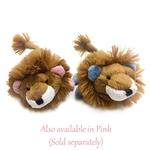 View Image 2 of Lion Safari Baby Pipsqueak Dog Toy By Oscar Newman - Blue