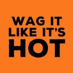 View Image 2 of Wag It Like It's Hot Dog Shirt - Orange
