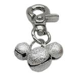 View Image 1 of Lobster Claw Bell Collar Charm - Silver