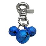 View Image 1 of Lobster Claw Bell Collar Charm - Blue