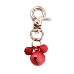 View Image 1 of Lobster Claw Bell Collar Charm - Red