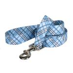 View Image 1 of London Plaid Dog Leash by Yellow Dog - Light Blue