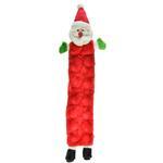View Image 1 of Long Body Holiday Santa Squeaker Mat Dog Toy