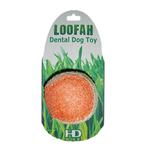 View Image 1 of Loofah Dental Ball Dog Toy by Hip Doggie