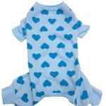 View Image 1 of Lookin' Good Heart Dog Pajamas - Blue