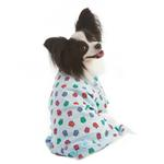 View Image 1 of Lookin' Good Owl Print Dog Pajamas - Blue