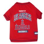View Image 1 of Los Angeles Angels Dog T-Shirt - Red