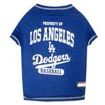 View Image 1 of Los Angeles Dodgers Dog T-Shirt - Blue