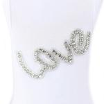 View Image 2 of Love Dog Dress by Hello Doggie - White Crystals