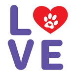 View Image 2 of Love Dog Shirt with Paw Heart - White