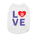 View Image 1 of Love Dog Shirt with Paw Heart - White