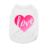 View Image 1 of Love Heart Dog Shirt - White