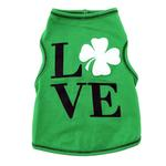View Image 1 of Love Shamrock Dog Tank - Green