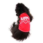 View Image 2 of Love with Three Hearts Dog Tank - Red