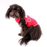 View Image 3 of Love with Three Hearts Dog Tank - Red