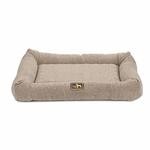 View Image 1 of Luca Crate Cuddler Dog Bed - Cobblestone Tweed