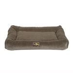 View Image 1 of Luca Crate Cuddler Dog Bed - Taupe