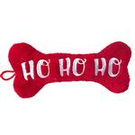 View Image 1 of Lulubelles Holiday Power Plush Dog Toy - Ho Ho Ho Bone