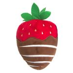 View Image 1 of Lulubelles Power Plush Dog Toy - Chocolate Dipped Strawberry