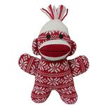 View Image 1 of Lulubelles Power Plush Holiday Dog Toy - Crystal the Red Sock Monkey