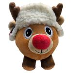 View Image 1 of Lulubelles Power Plush Lil' Feet Holiday Dog Toy - Nutmeg Reindeer