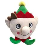 View Image 1 of Lulubelles Power Plush Lil' Feet Holiday Dog Toy - Skittle Elf
