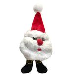 View Image 1 of Lulubelles Power Plush Lil' Feet Holiday Dog Toy - Plumpy Santa
