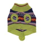 View Image 2 of Luna's Bohemian Dog Poncho - Navy and Green