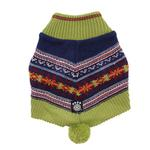 View Image 1 of Luna's Bohemian Dog Poncho - Navy and Green