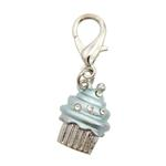 View Image 1 of Luxe Cupcake D-Ring Pet Collar Charm by foufou Dog - Blue