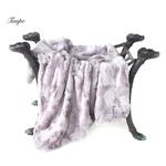 View Image 1 of Luxe Dog Blanket by Hello Doggie - Taupe