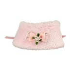 View Image 1 of Luxurious Fur Dog Cape by Hip Doggie - Pink
