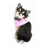 View Image 4 of Luxurious Fur Dog Cape by Hip Doggie - Pink