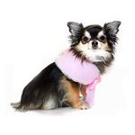 View Image 2 of Luxurious Fur Dog Cape by Hip Doggie - Pink