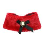 View Image 1 of Luxurious Fur Dog Cape by Hip Doggie - Red
