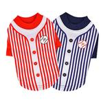 View Image 3 of Major Baseball Dog Jersey by Puppia - Red