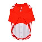 View Image 2 of Major Baseball Dog Jersey by Puppia - Red