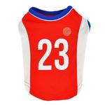 View Image 1 of Buzzer Beater Basketball Dog Jersey by Puppia - Red
