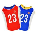 View Image 3 of Buzzer Beater Basketball Dog Jersey by Puppia - Red