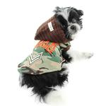 View Image 3 of Major Trouble Dog Hoodie by Hip Doggie - Green Camo