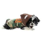 View Image 2 of Major Trouble Dog Hoodie by Hip Doggie - Green Camo