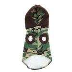 View Image 4 of Major Trouble Dog Hoodie by Hip Doggie - Green Camo